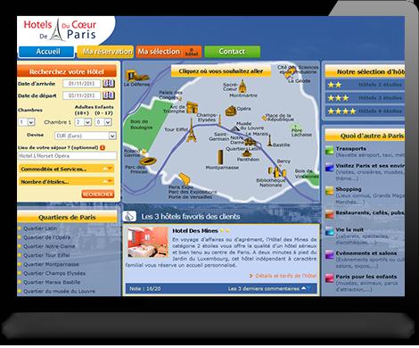 R alisations de logiciel de r servation agence web conseil for Site reservation hotel en ligne